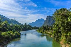 Song river at Vang Vieng, Laos