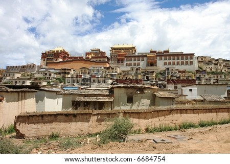 Song Zhangling Monastery in Zhongdian, Tibet, China