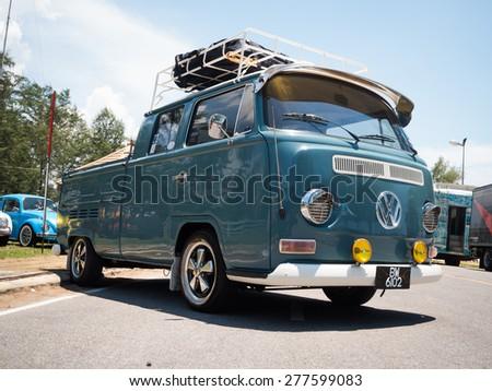 SONGKHLA, THAILAND - May 02 :Hippie Volkswagen Kombi Meeting in \