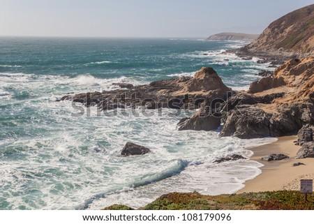 Sonoma County rocky coast, California