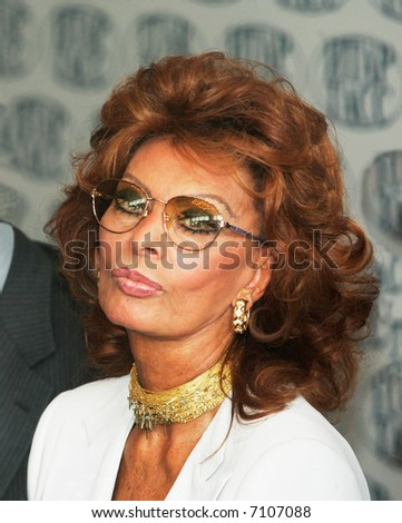Sophia Loren - the most popular Italian actress, Academy Award-winning actress and former sex symbol.