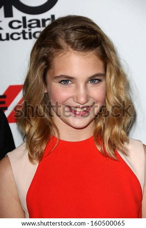 Sophie Nelisse at the 17th Annual Hollywood Film Awards Arrivals, Beverly Hilton Hotel, Beverly Hills, CA 10-21-13
