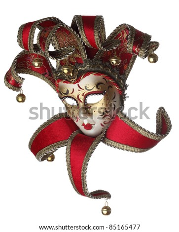 Sophisticated venetian mask isolated against a white background.