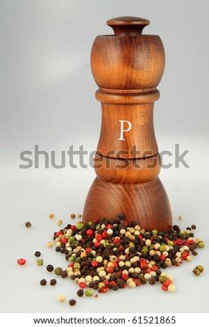 Sophisticated wooden pepper shaker