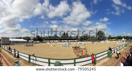 SOPOT - JUNE 11 : The international equestrian competitions in show-jumping classes CSIO on June 11, 2011 in Sopot, Poland.