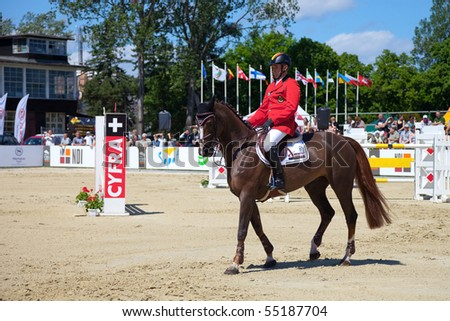 SOPOT - JUNE 12 : The international equestrian show-jumping - CSIO June 12, 2010 in Sopot, Poland.