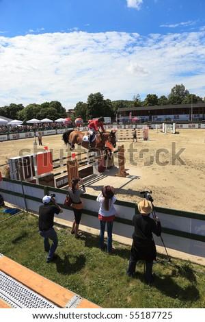 SOPOT - JUNE 12 : The international equestrian show-jumping - CSIO June 12, 2010 in Sopot, Poland.