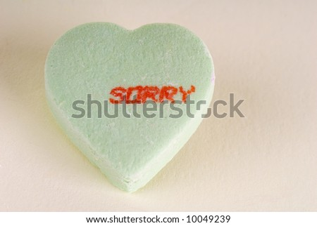 Sorry Candy Heart