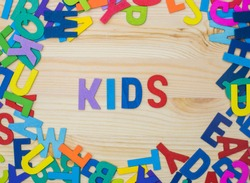 Sort the colorful letters into words, learn and play alphabet. Back to school activities.