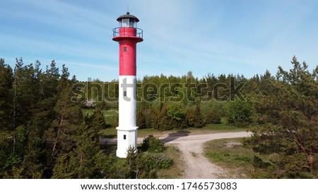 Soru lighthouse on Hiiumaa island, Estonia Stok fotoğraf ©