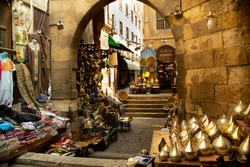 Souk of Cairo, Egypt market