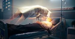 Soul leaving dead patient in hospital