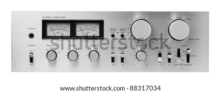 Sound amplifier front panel, isolated.