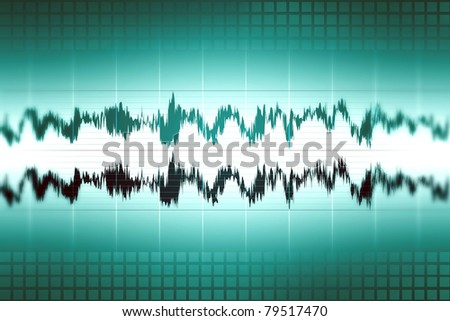 Sound audio waveform, abstract background image
