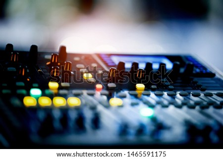sound check for concert, mixer control, music engineer, backstage
