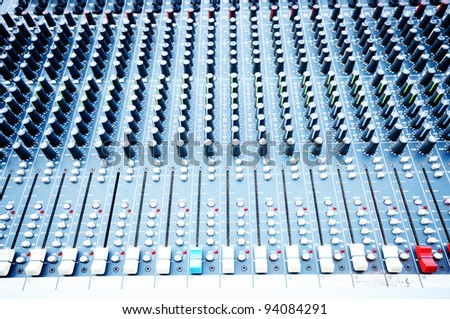 Sound Mixer, close up shot
