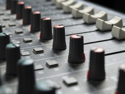 Sound mixer closeup, for music and sound , entertainment themes