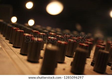 Sound mixer in a theatre #1285096297