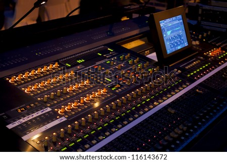 Sound mixer in concert