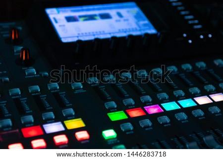 Sound mixer, sound control at a concert, in a club, in a recording studio. #1446283718