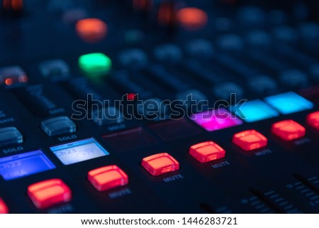 Sound mixer, sound control at a concert, in a club, in a recording studio. #1446283721
