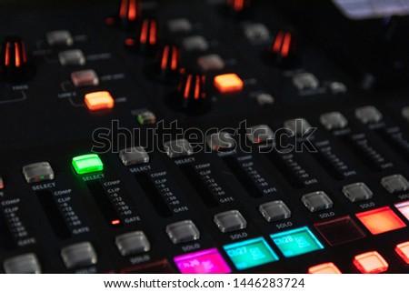 Sound mixer, sound control at a concert, in a club, in a recording studio. #1446283724