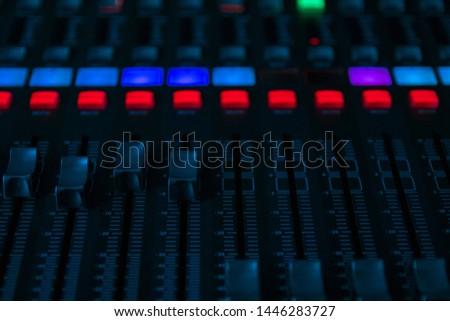 Sound mixer, sound control at a concert, in a club, in a recording studio. #1446283727