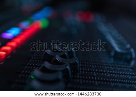 Sound mixer, sound control at a concert, in a club, in a recording studio. #1446283730
