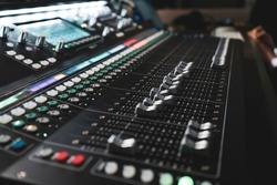 Sound mixer with motorized faders