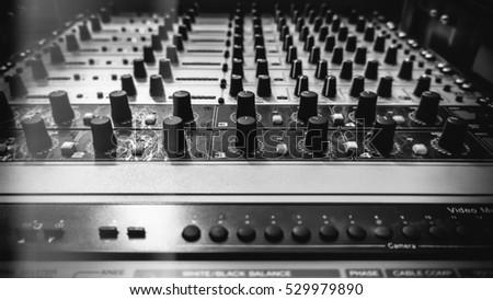 Sound Recording Equipment (Media Equipment). Recording studio.