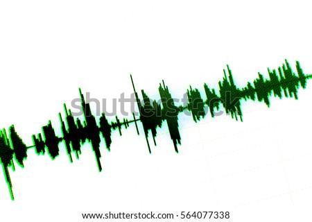 Sound recording studio audio wave  #564077338