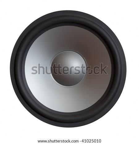 sound speaker isolated on white background