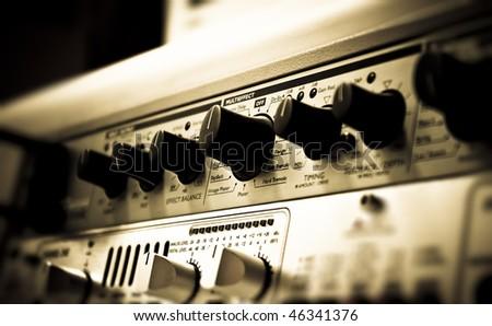 Sound studio effect rack