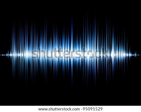 Sound wave background suitable as a backdrop for music, technology and sound projects
