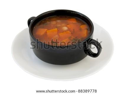 Soup from a pumpkin