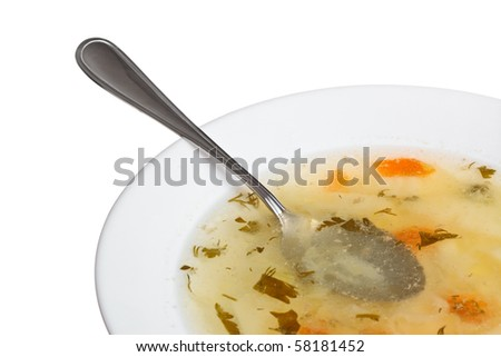 soup in plate