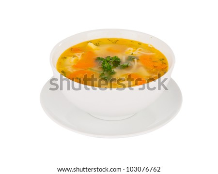 soup isolated on white background