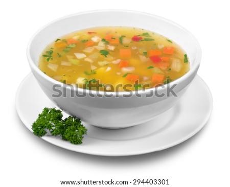 soup  vegetable soup  bowl.