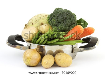 soup vegetables in a cooking pot