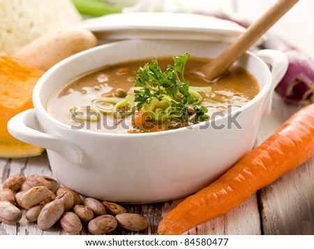 soup vegetables with ingredients