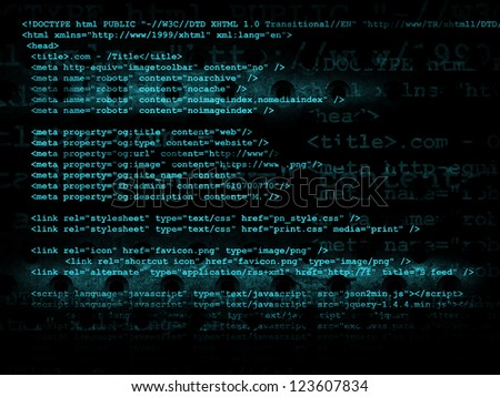 Source code technology background, illustration