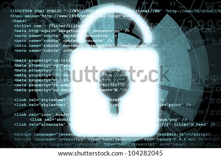 Source code technology background - security concept