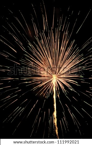 Source of life celebrated with radial expansion of light in the night sky