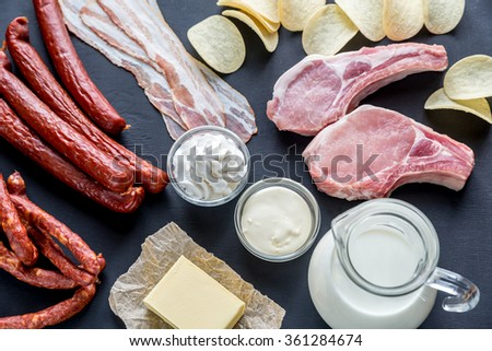 Sources of saturated fats #361284674
