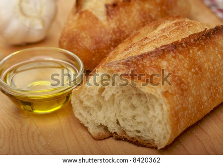 Sourdough Bread on Cutting Board with Narrow Depth of Field