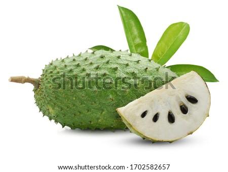soursop fruit isolated on white background