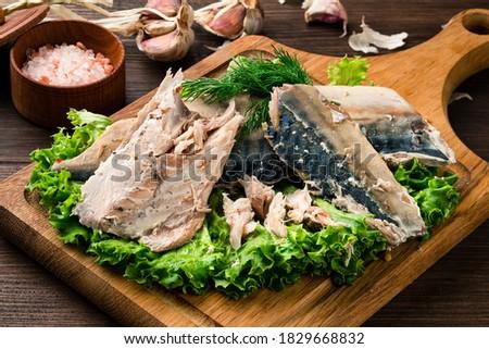 Sous Vide mackerel fish fillet cooked, sous-vide technology cuisine Photo stock ©