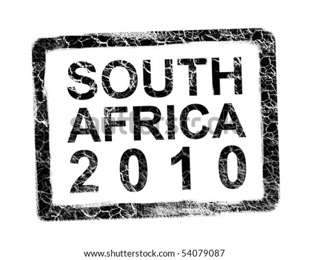 South Africa Black stamp
