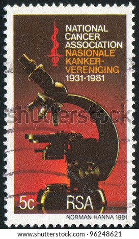 SOUTH AFRICA - CIRCA 1981: stamp printed by South Africa, shows Microscope, circa 1987