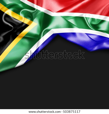 South Africa Country Flag on black background #503875117
